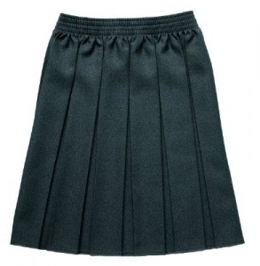 l_Girls box pleat skirt
