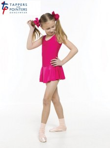 l_junior cerise peony, lycra scrunchies & ballet socks - copy