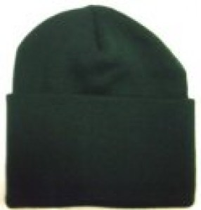 t_acrylic knitted hat bottle green